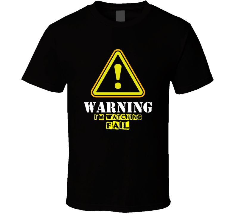 Fail King Bach C.K. TV Show Warning I'm Watching Funny T Shirt