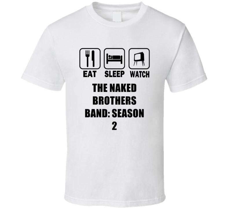Naked brothers band black t shirt