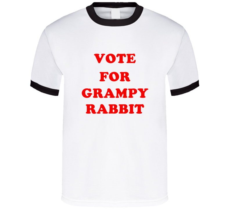 Vote For Grampy Rabbit Tv Show Peppa Pig T Shirt