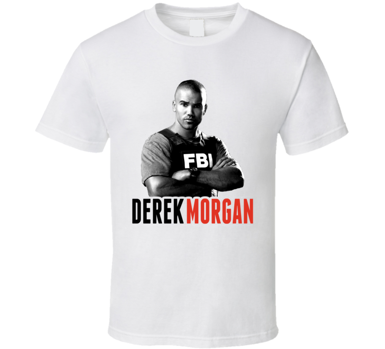 Derek Morgan Criminal Minds Shemar Moore TV Show T Shirt