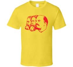 Lenin Engels Marx Russia CCCP T Shirt
