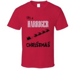 Its a Harriger Christmas Name Parody Funny T Shirt