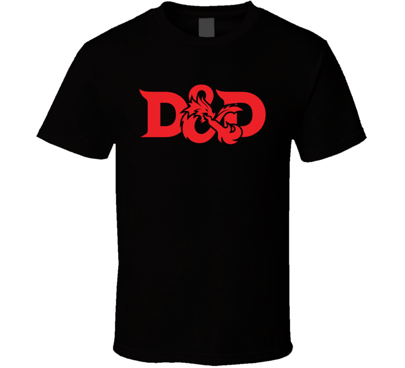 D&D Dungeons and Dragons Logo Gaming RPG T Shirt