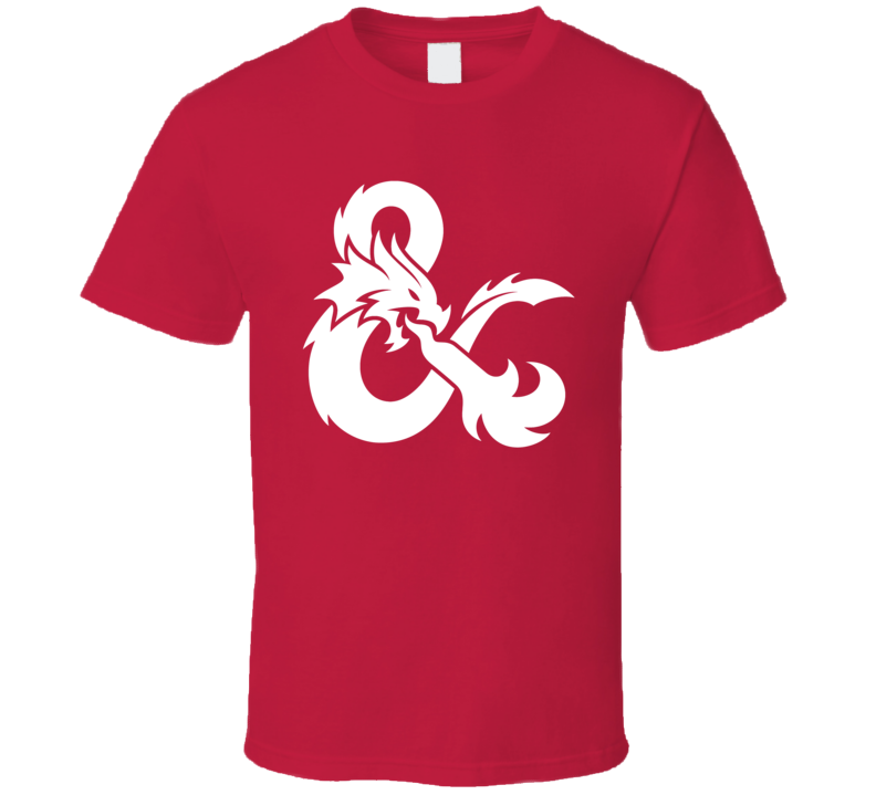 Dungeons and Dragons D&D White Ampersand Symbol RPG Gaming T Shirt