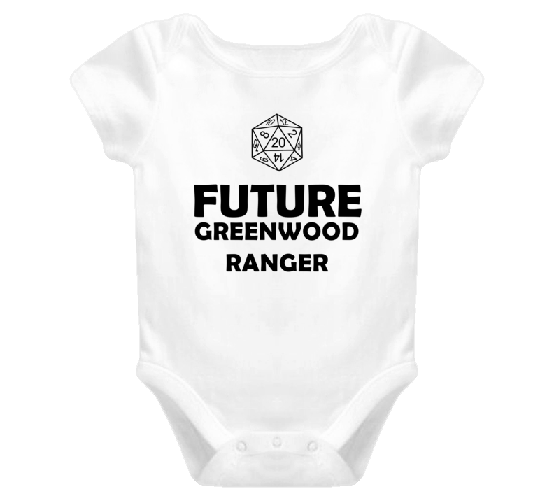 Future Greenwood Ranger Role Playing Game Baby One Piece