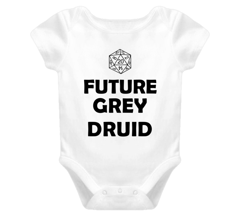 Future Grey Druid Role Playing Game Baby One Piece