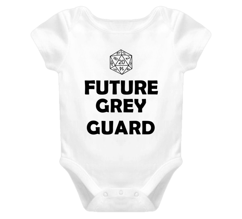 Future Grey Guard Role Playing Game Baby One Piece