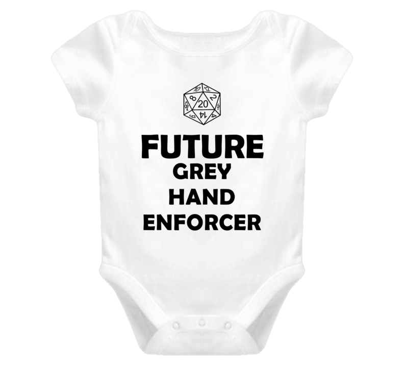 Future Grey Hand Enforcer Role Playing Game Baby One Piece