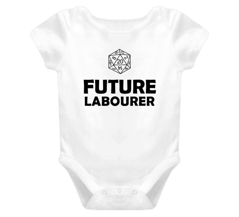 Future Labourer Role Playing Game Baby One Piece