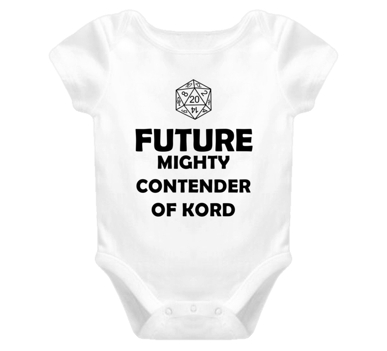 Future Mighty Contender of Kord Role Playing Game Baby One Piece