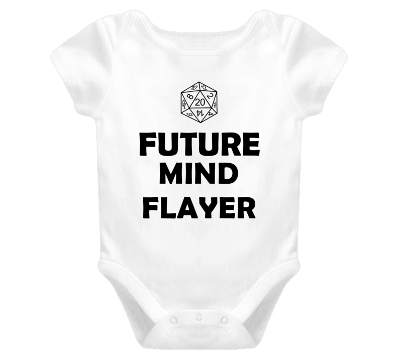 Future Mind Flayer Role Playing Game Baby One Piece