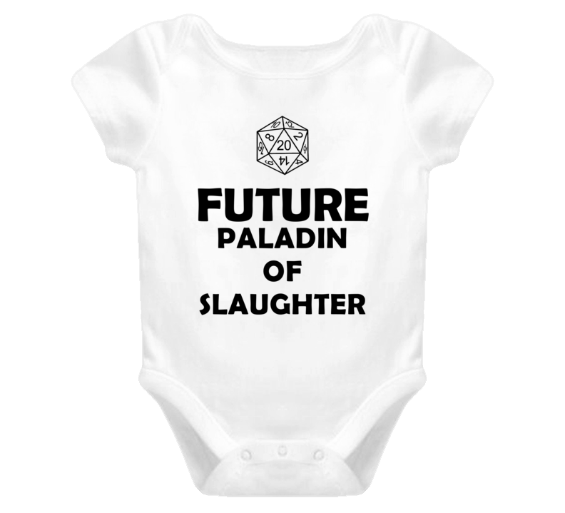 Future Paladin of Slaughter Role Playing Game Baby One Piece