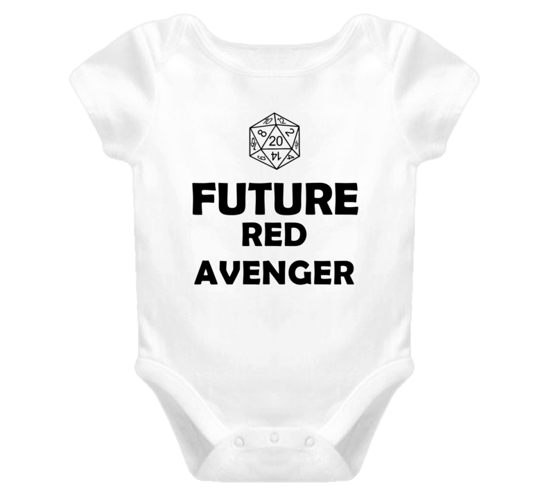Future Red Avenger Role Playing Game Baby One Piece
