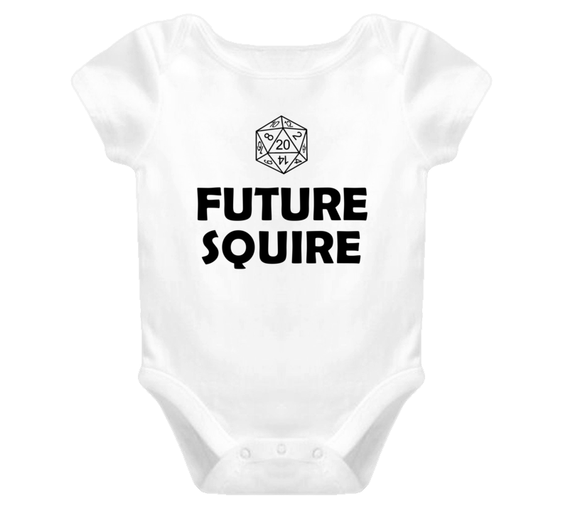Future Squire Role Playing Game Baby One Piece