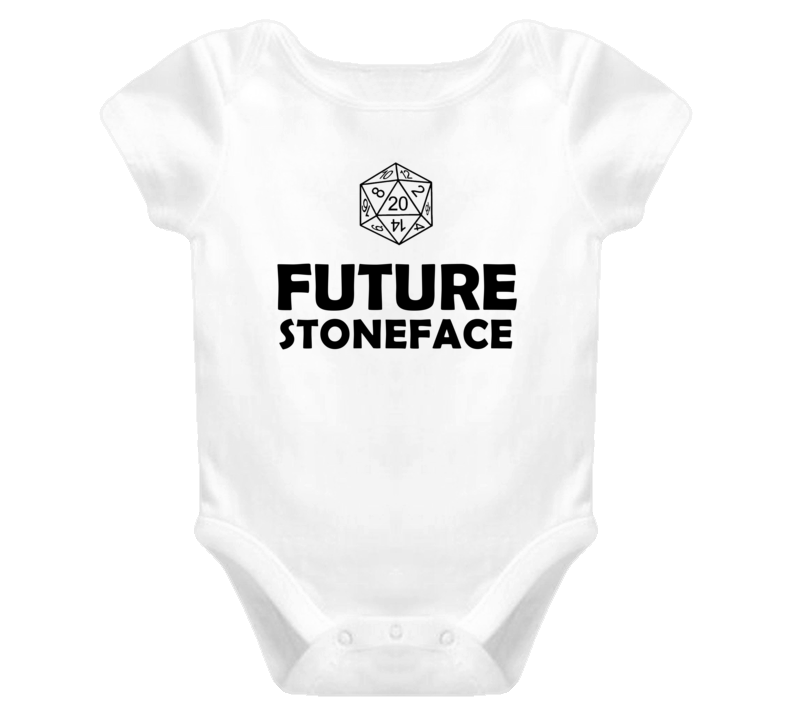 Future Stoneface Role Playing Game Baby One Piece