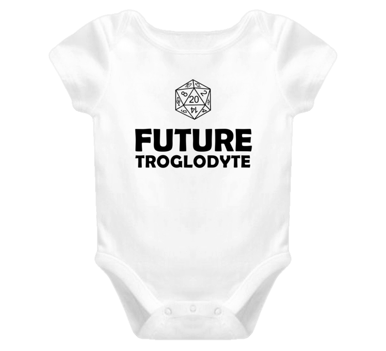 Future Troglodyte Role Playing Game Baby One Piece