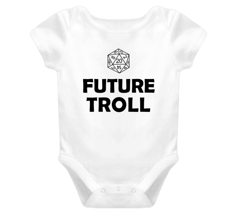 Future Troll Role Playing Game Baby One Piece