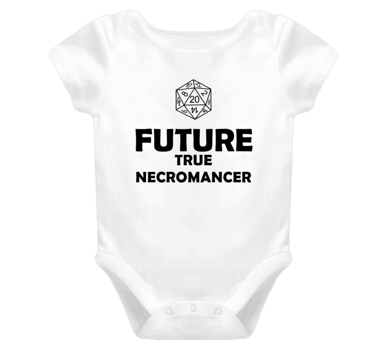 Future True Necromancer Role Playing Game Baby One Piece