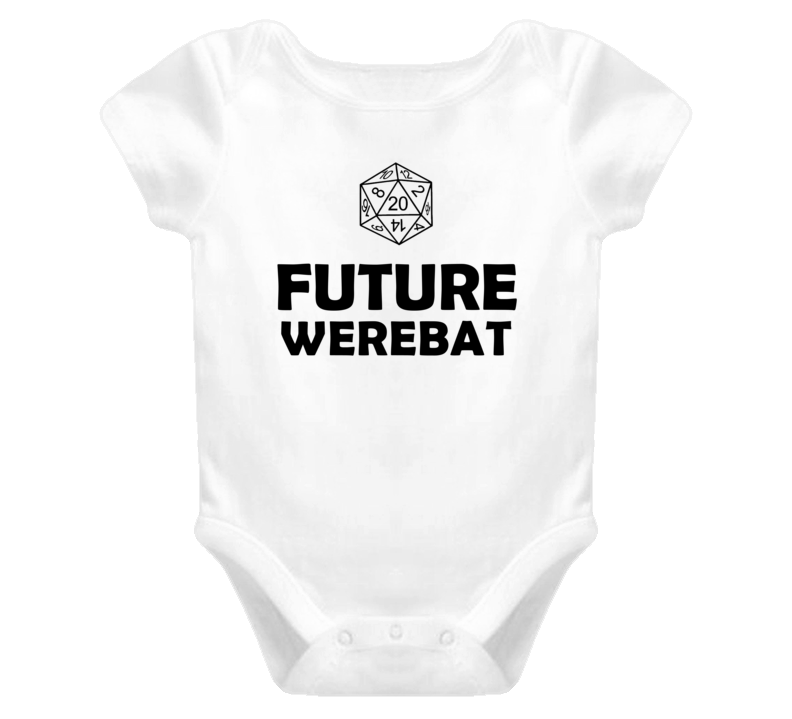 Future Werebat Role Playing Game Baby One Piece