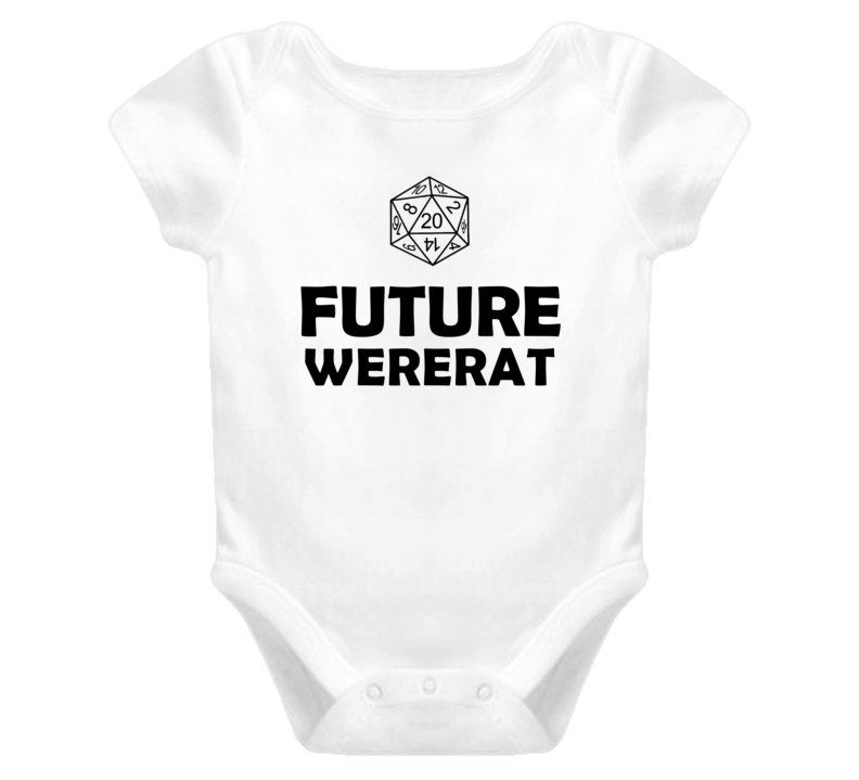 Future Wererat Role Playing Game Baby One Piece