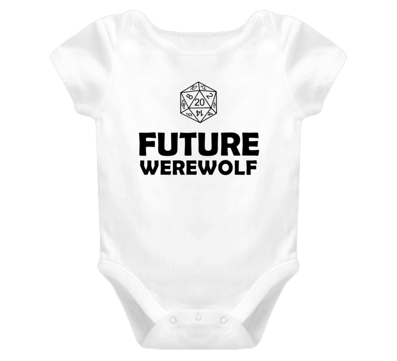 Future Werewolf Role Playing Game Baby One Piece