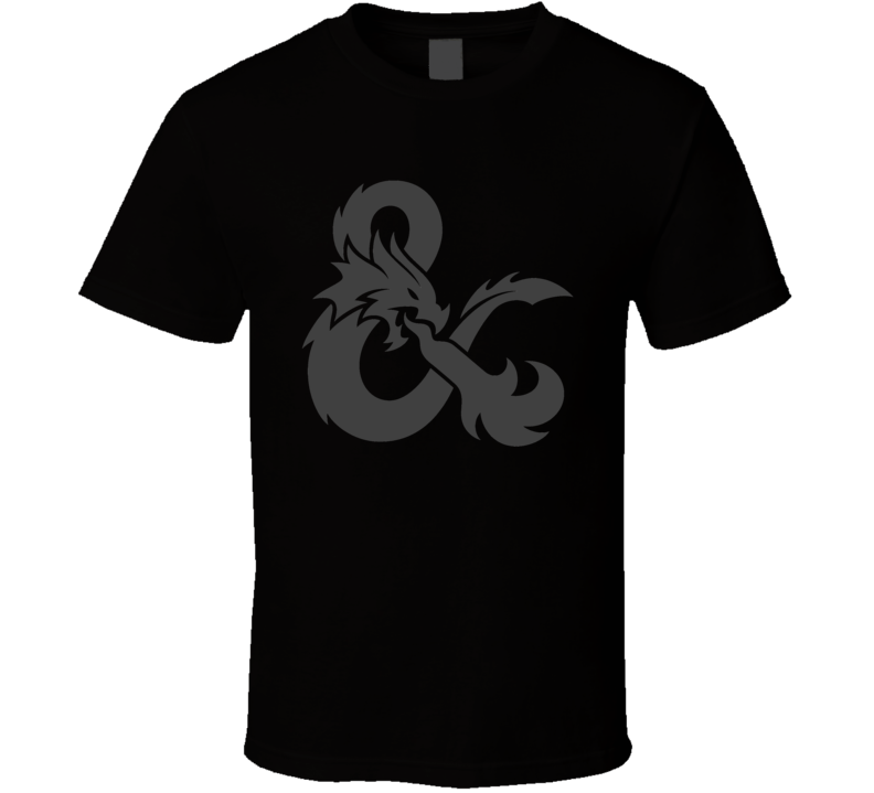Dungeons and Dragons D&D Grey Ampersand Symbol RPG Gaming T Shirt