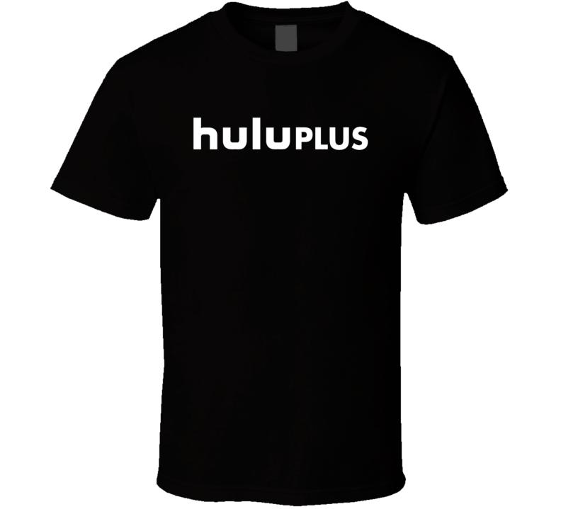 Hulu Plus White Logo Online Streaming T Shirt
