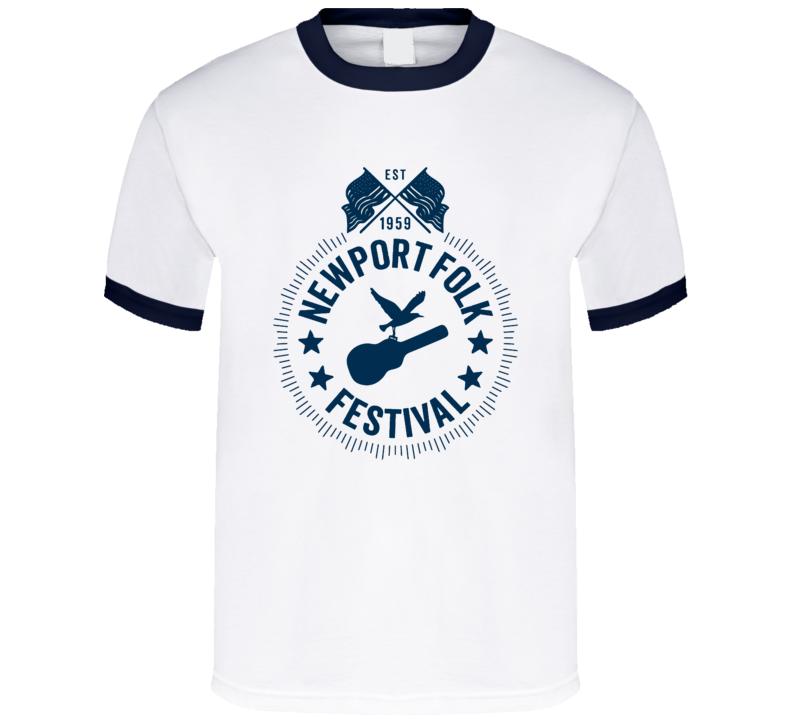 Newport Folk Festival Music Concert T Shirt