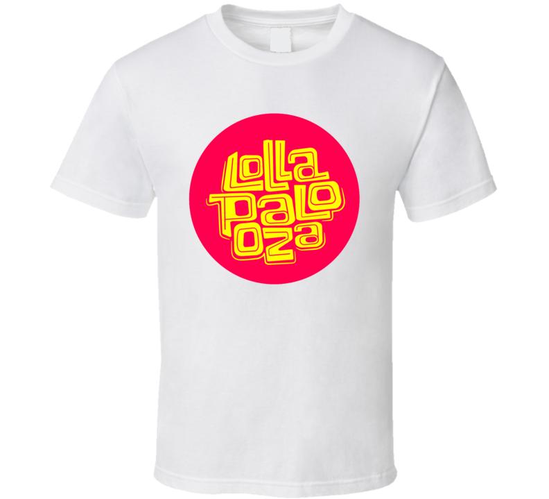 Lollapalooza Music Festival Concert Bands Logo T Shirt