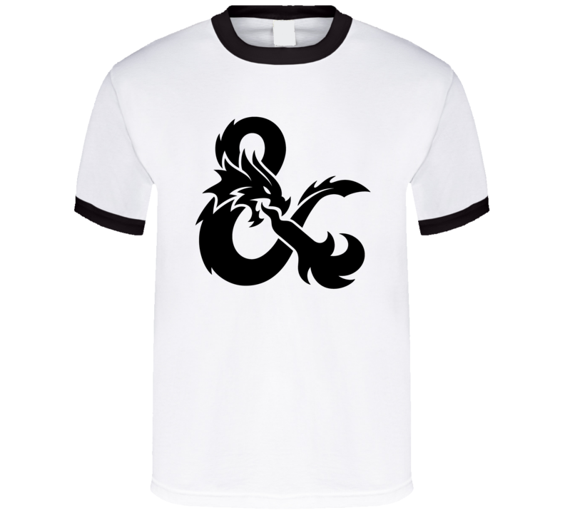 Dungeons and Dragons Black Ampersand Symbol D&D RPG T Shirt