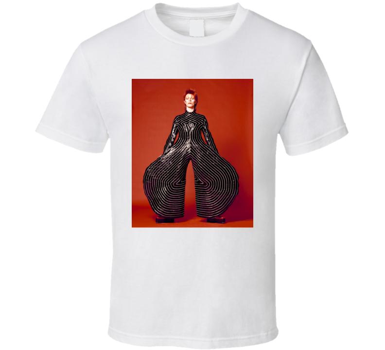 David Bowie Singer Rock Pop Star Musician Ziggy Stardust Photo Aladdin Sane T Shirt
