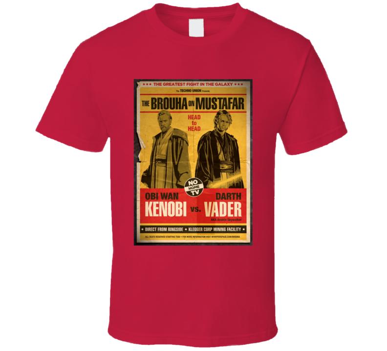 Obi Wan Kenobi Darth Vader Anakin Skywalker Star Wars Movie Boxing Parody T Shirt