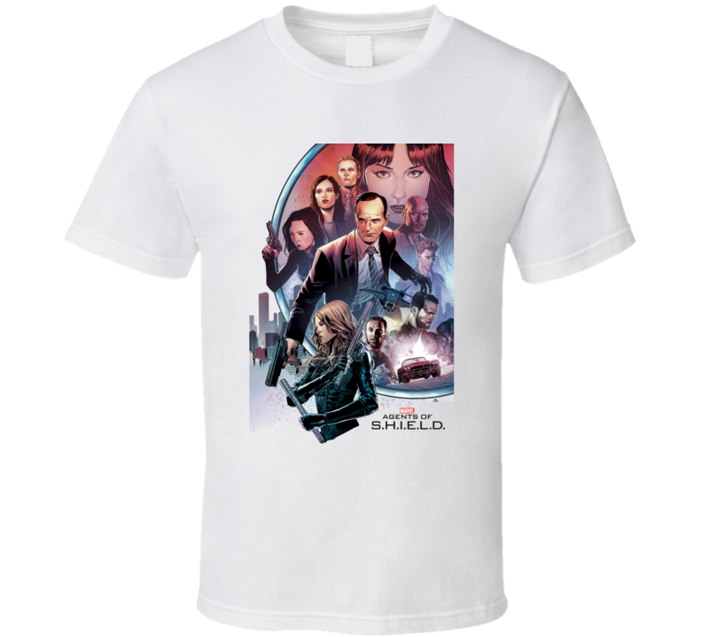 Agents of Shield TV Show Comic Book Agent Coulson T Shirt