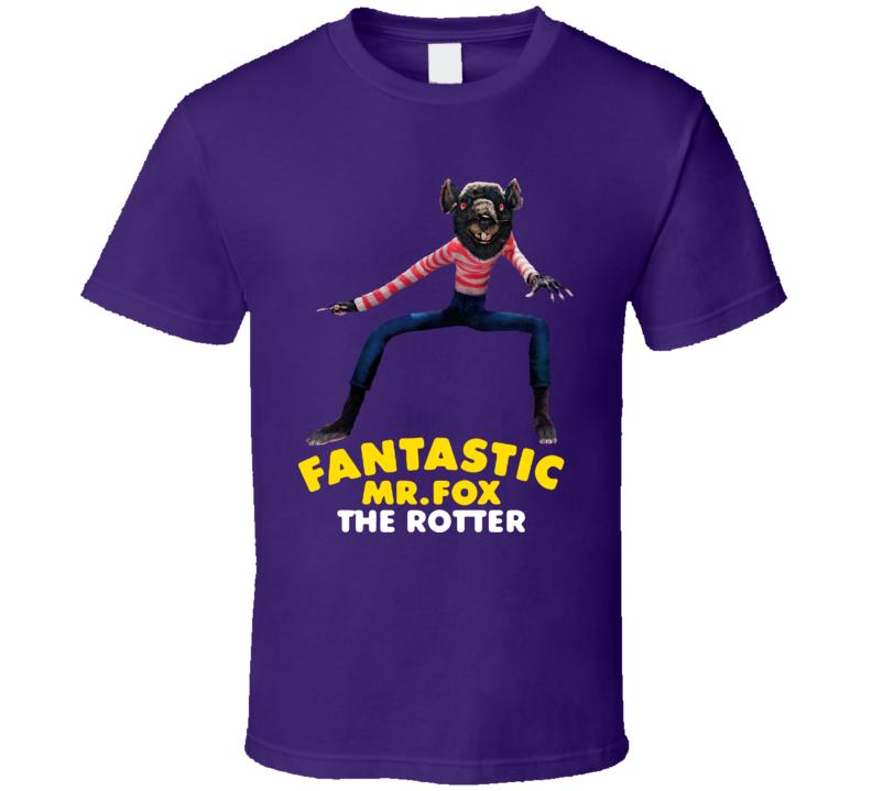 Fantastic Mr Fox Movie The Rotter T Shirt