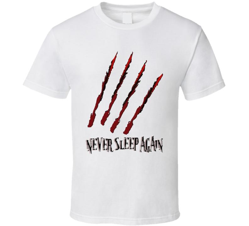Freddy Kreuger Nightmare On Elm Street Horror T Shirt