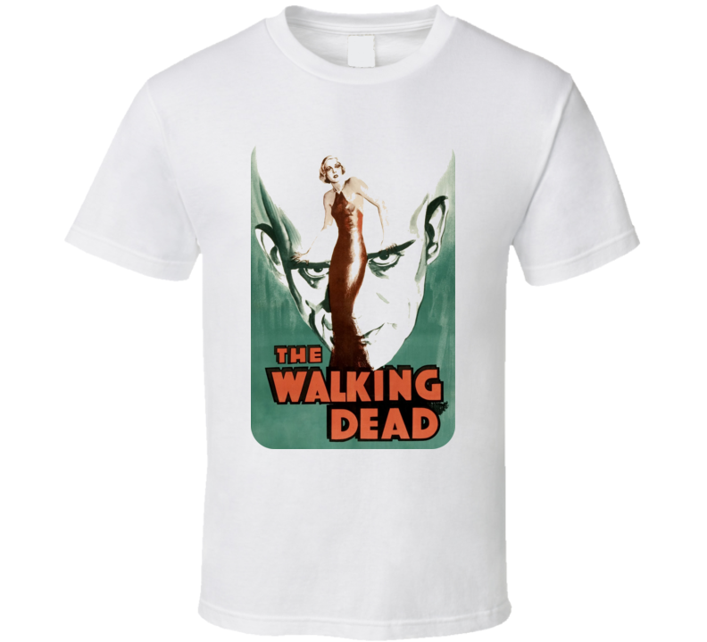 The Walking Dead Karloff Horror Movie T Shirt