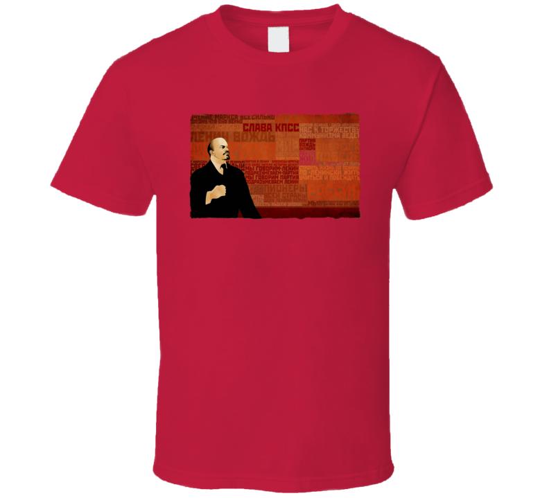 Lenin Communism Russia T Shirt