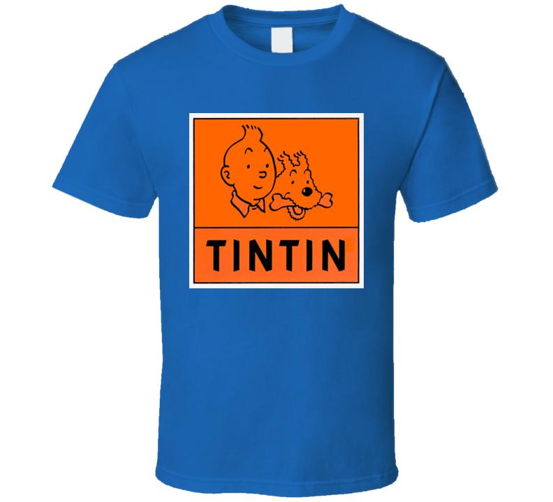 Tintin Cartoon Comic T Shirt