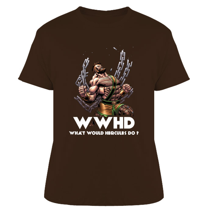 WWHD What Would Hercules Do? Comics Mythology T Shirt