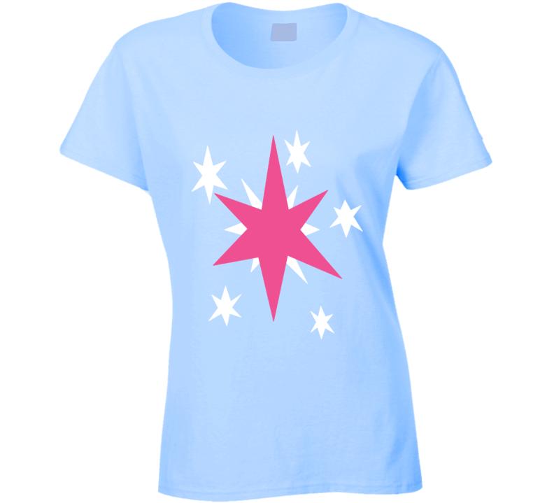Twilight Sparkle Cutie Mark My Little Pony Cartoon Ladies T Shirt