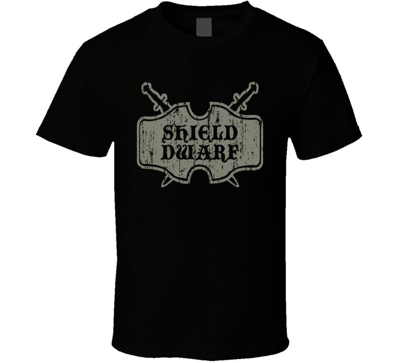 Shield Dwarf Role Playing Game PC Player T Shirt