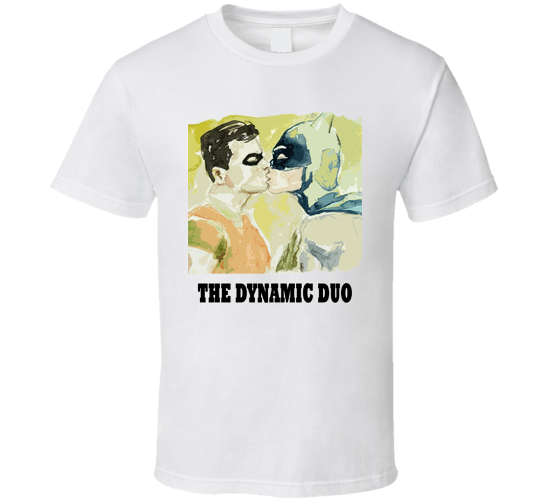 Batman And Robin Kissing T Shirt