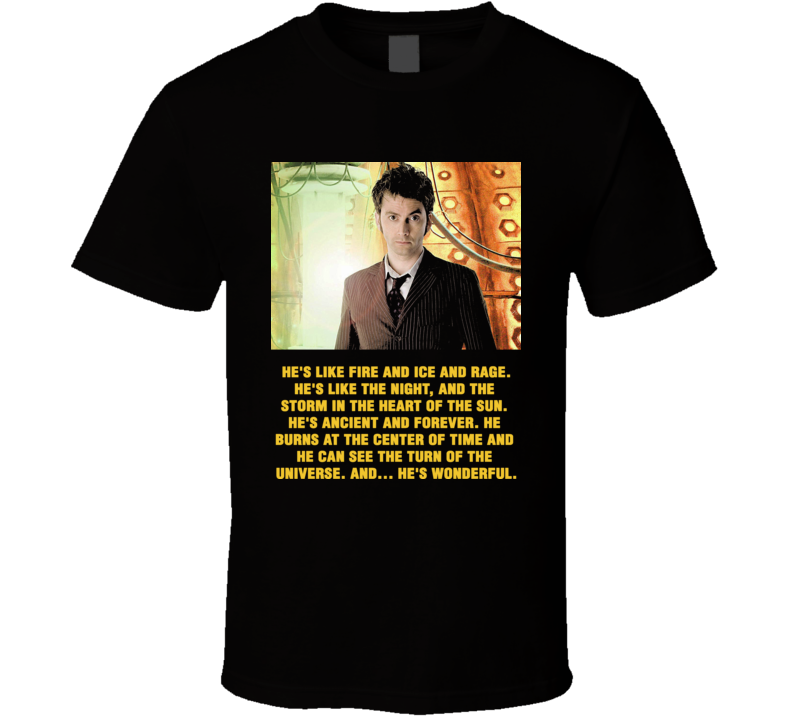 Doctor Who 10Th Doctor With Quote T Shirt