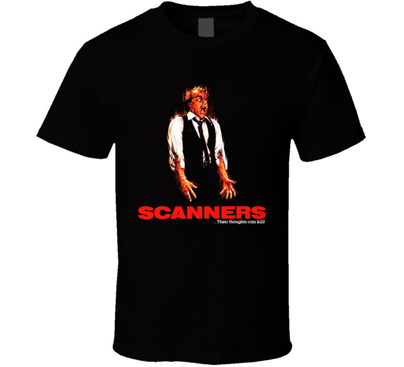 Scanners Horror Cult Movie T Shirt