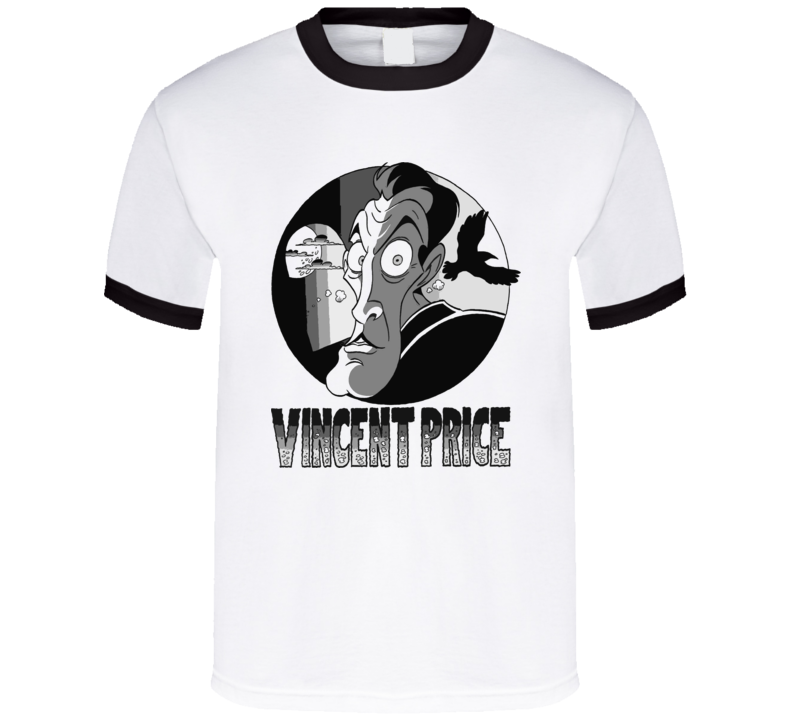 Vincent Price Cult Horror Movie Actor Caricature White T Shirt
