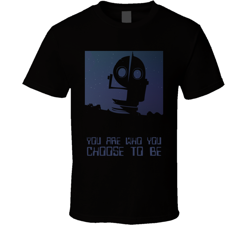 Iron Giant Movie Cult Classic Head Choose Quote T Shirt