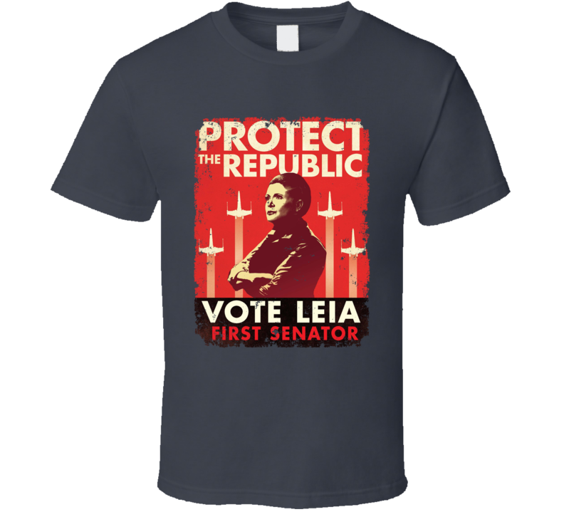 Star Wars Vote Leia Organa Senator Poster Election Parody T Shirt