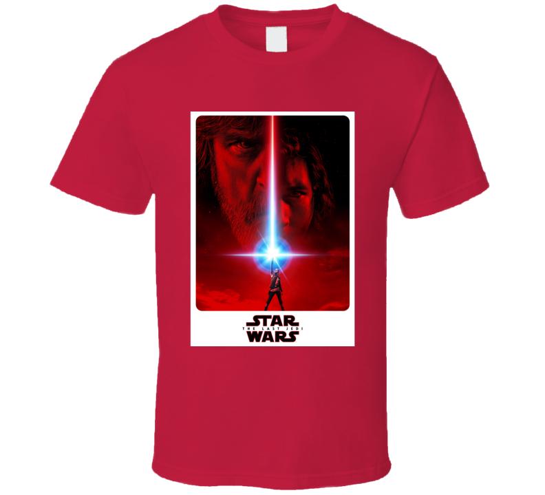 Star Wars Last Jedi Movie Poster Luke Skywalker Rey T Shirt