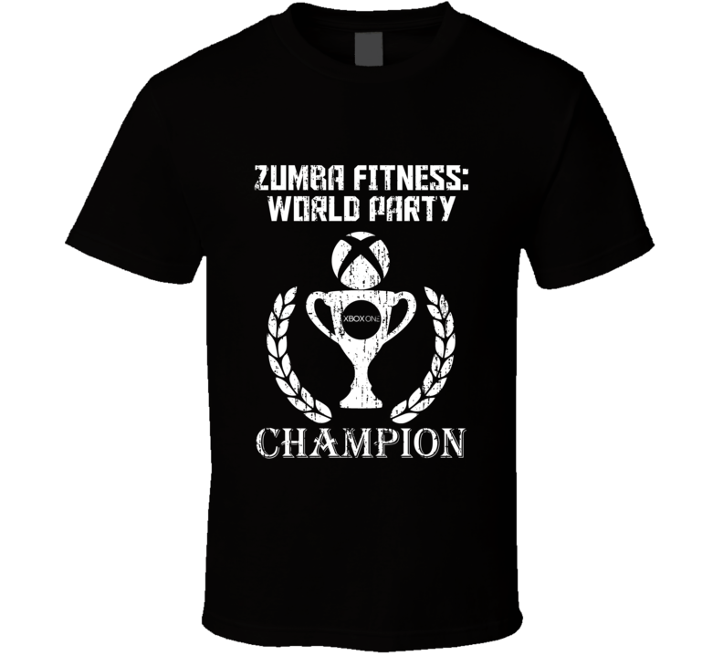 Champion Trophy Zumba Fitness World Party Xbox One Video Game T Shirt