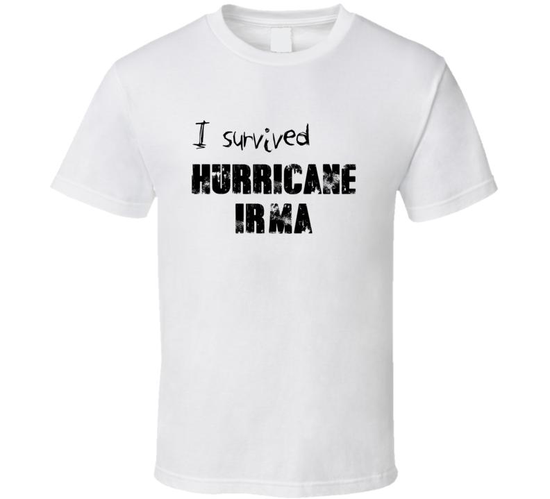 I Survived Hurricane Irma Survivor White T Shirt